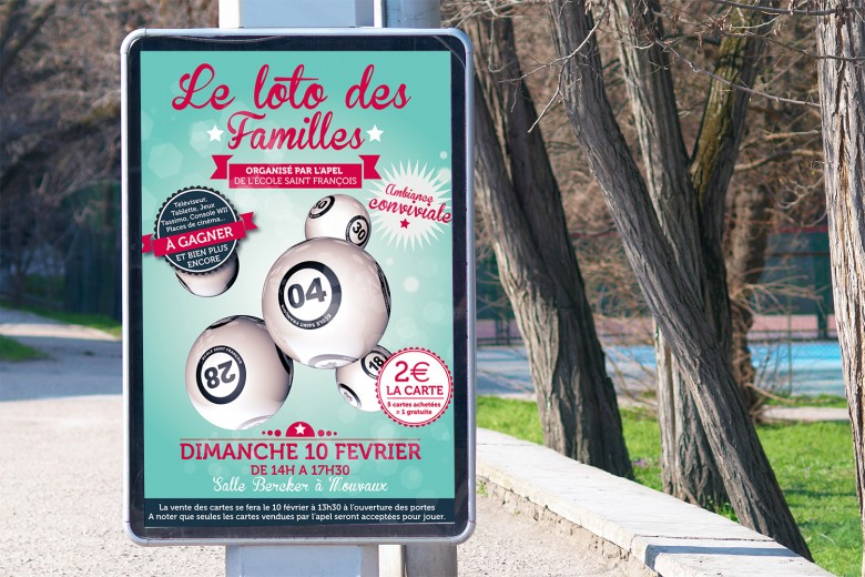 affiche Loto des familles